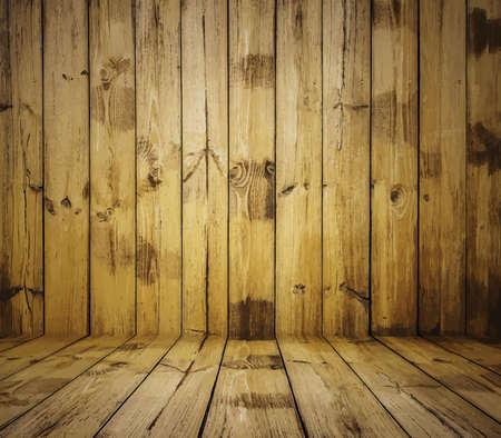 painted old wooden wall. brown room Ilustração