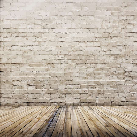 Stary ceglany mur z inter