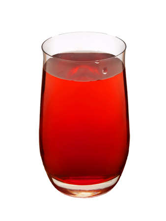 quencher: glass with red drink