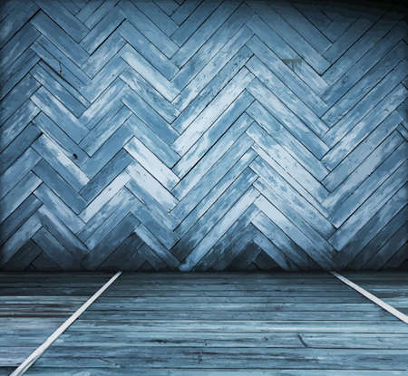painted old wooden wall. blue room