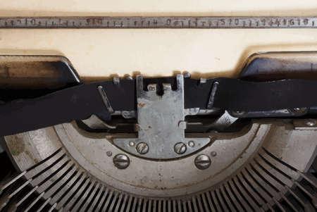 key pad: retro typewriter Illustration