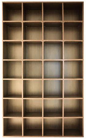 wooden shelves: empty wooden shelves Illustration