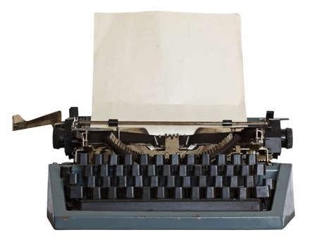 key pad: vintage typewriter
