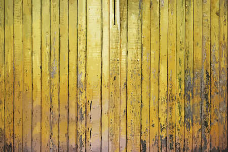 painted old wooden wall. yellow background Ilustração