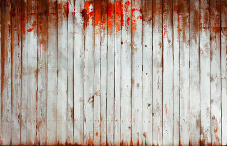 painted old wooden wall. red background, vector Ilustração