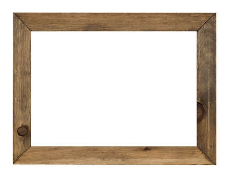 empty frame: photo frame isolated on white background with clipping path