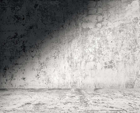 empty room background: old grungy room with concrete wall