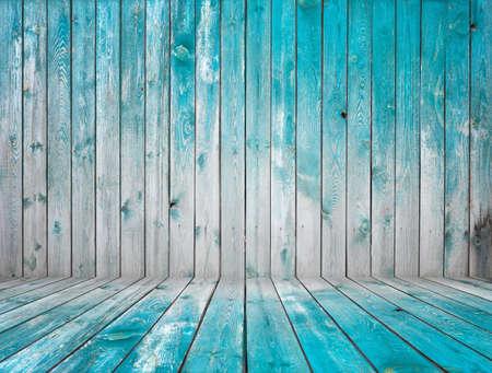 empty wooden room, interior background Stock Photo