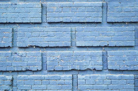 old brick wall. blue background