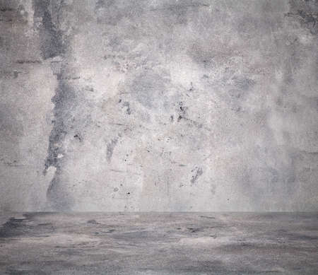 empty room with concrete wall, grey background 版權商用圖片