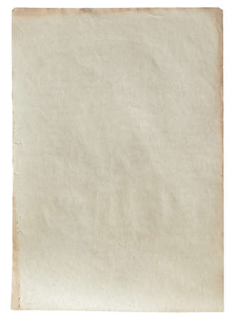 old paper isolated on white background with clipping path 版權商用圖片