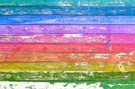 Texture de fond en bois coloré. Mur de planches multicolores.