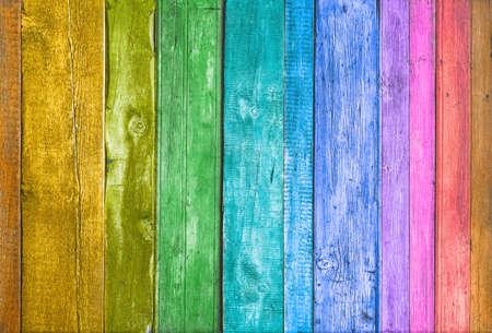 Textura de fondo de madera olorful. Pared de tablones multicolores.