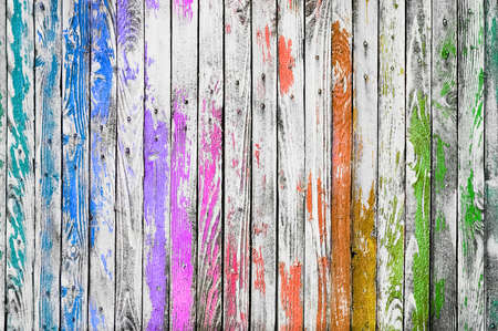 Ð¡olorful wooden background texture. Multicolored planks wall.