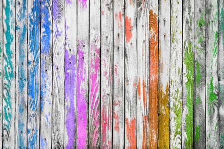 Farbige hölzerne Hintergrundbeschaffenheit. Mehrfarbige Dielenwand.