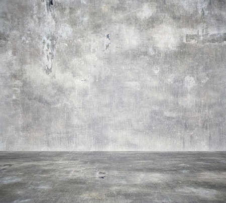 empty room with concrete wall, grey background Imagens