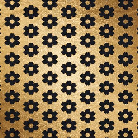old retro pattern, golden background