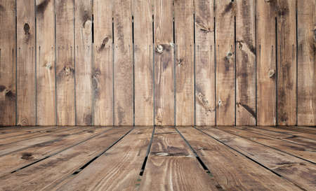 old room, wooden background, empty interior Stock Photo