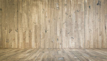old wooden background, empty room