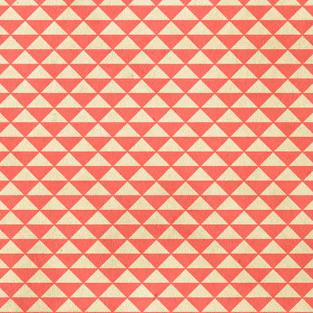 old retro pattern on old paper, living coral colour background