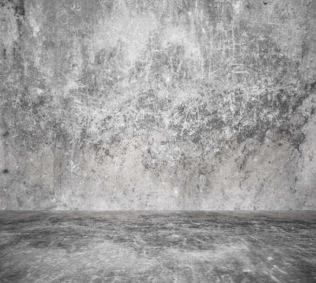 empty room with concrete wall, grey background Zdjęcie Seryjne - 129845113