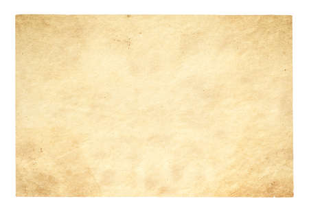 old paper isolated on white background Zdjęcie Seryjne - 129845179