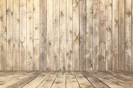 old room, wooden background, empty interior Zdjęcie Seryjne - 129845255