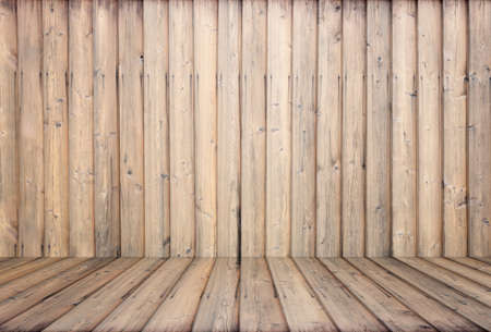 old room, wooden background, empty interior Zdjęcie Seryjne - 129845252