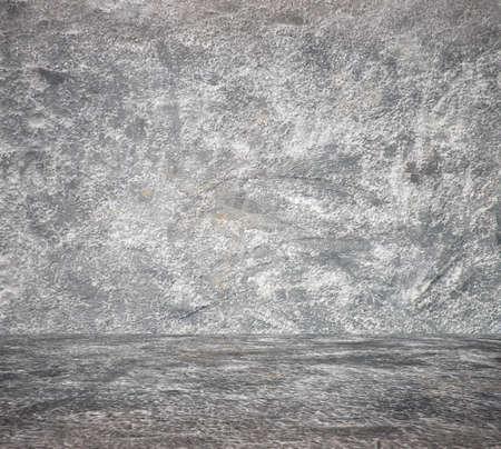 empty room with concrete wall, grey background Zdjęcie Seryjne