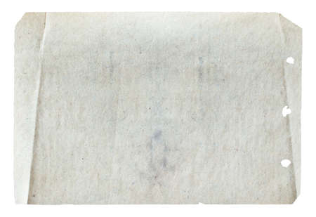 old paper isolated on white background Zdjęcie Seryjne - 129845294