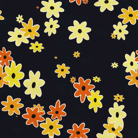 simple flowers patter, seamless background
