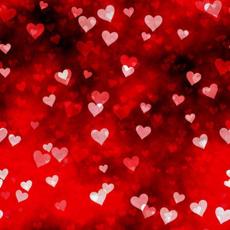 abstract seamless hearts background pattern Фото со стока - 132752302