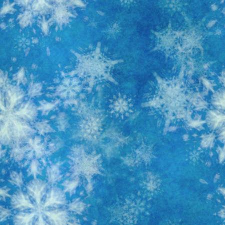 winter seamless background with snowflakes Фото со стока - 132752303