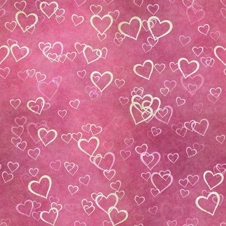 abstract seamless hearts background pattern Фото со стока - 132752346