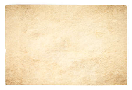old paper isolated on white background Фото со стока - 132752354