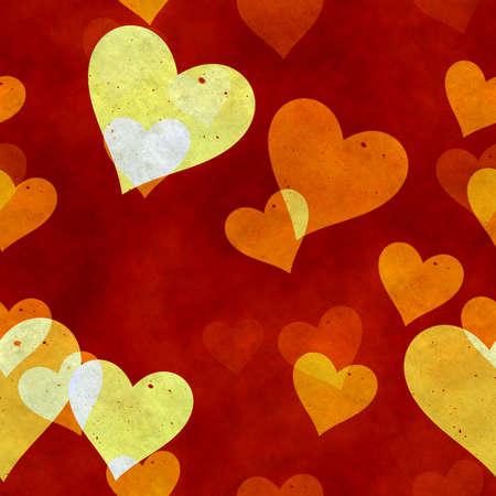abstract seamless hearts background pattern Фото со стока - 132752365