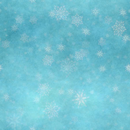winter seamless background with snowflakes Фото со стока - 132752381