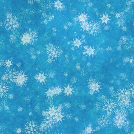 winter seamless background with snowflakes Фото со стока - 132752394