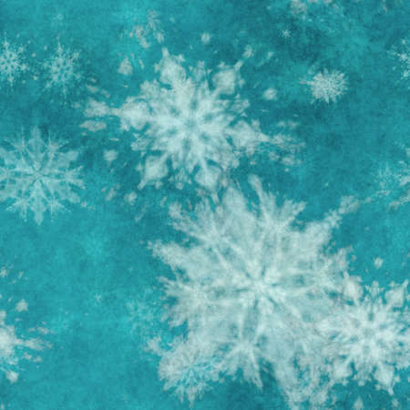 winter seamless background with snowflakes Фото со стока - 132752428