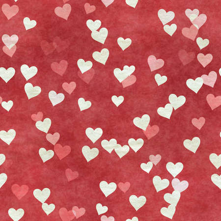 abstract seamless hearts background pattern Фото со стока - 132752450