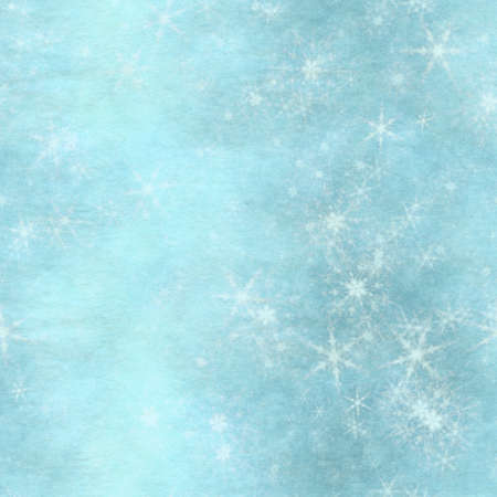 winter seamless background with snowflakes Фото со стока - 132752452