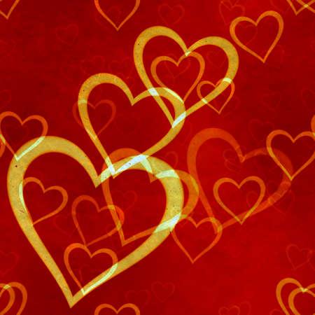 abstract seamless hearts background pattern Фото со стока - 132752461
