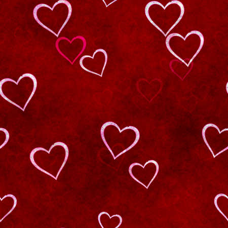 abstract seamless hearts background pattern Фото со стока - 132752459