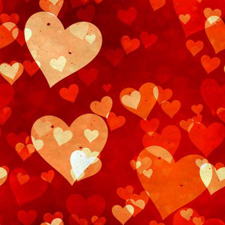 abstract seamless hearts background pattern Фото со стока - 132752462