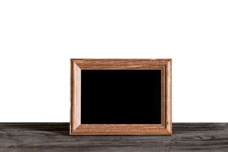 photo frame on table, white background Фото со стока - 132752467