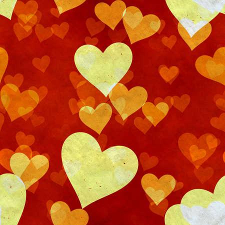 abstract seamless hearts background pattern Фото со стока - 132752482