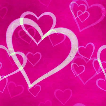 abstract seamless hearts background pattern Фото со стока - 132752483