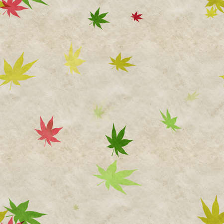 Autumn leaves, seamless background pattern on old paper. Фото со стока - 132752480