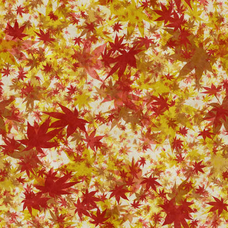 Autumn leaves, seamless background pattern on old paper. Фото со стока - 132752486