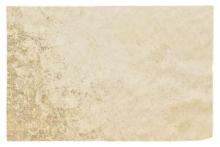 old paper isolated on white background Reklamní fotografie
